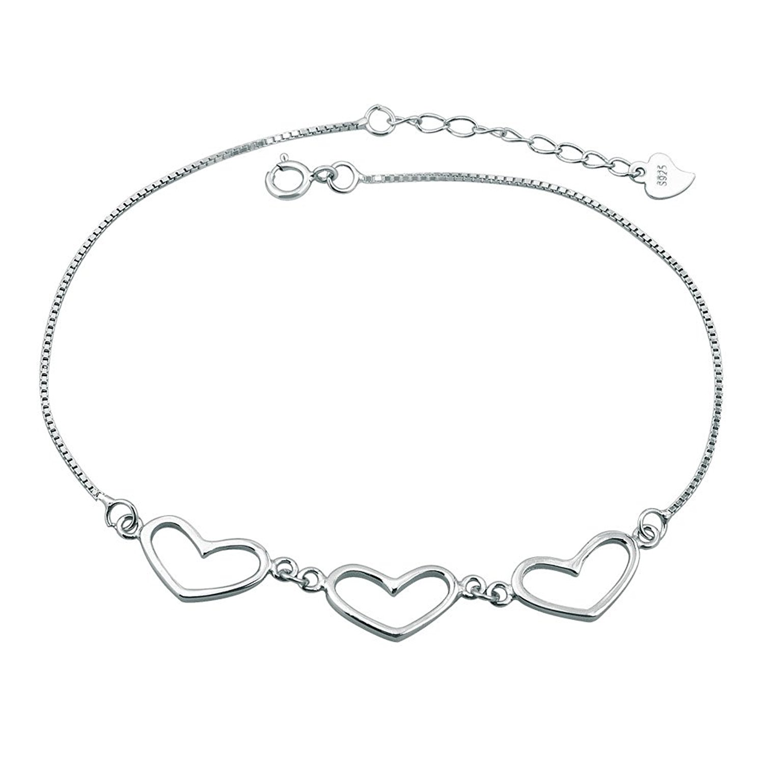 Mel Crouch 925 Sterling Silver Bling Sexy Star/Butterfly/Heart Beach Anklets Ankle Holiday Bracelets