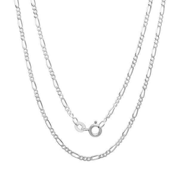 Sterling Essentials Silver 1.5 mm Figaro Chain (16-24 Inch)