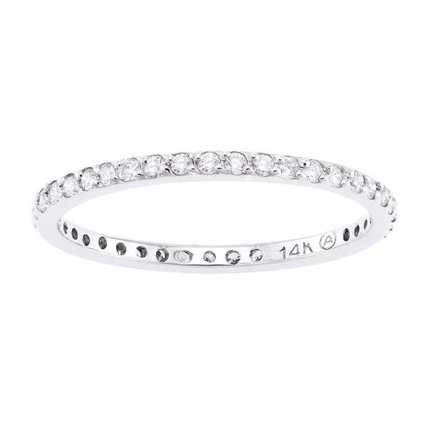 14k White Gold 1/3ct TDW Stackable Diamond Eternity Wedding Band