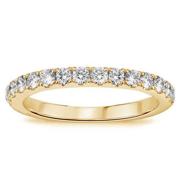 14k/18k Yellow Gold 1/2ct TDW Pave-set Diamond Anniversary Wedding Ring