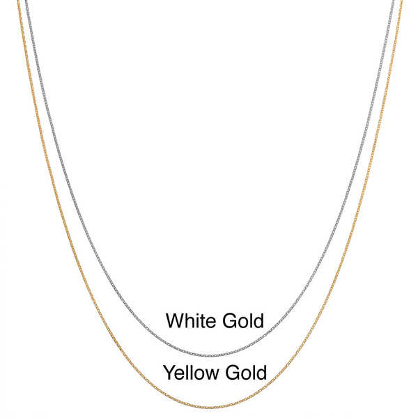 Fremada 10k Gold Diamond-cut Cable Chain