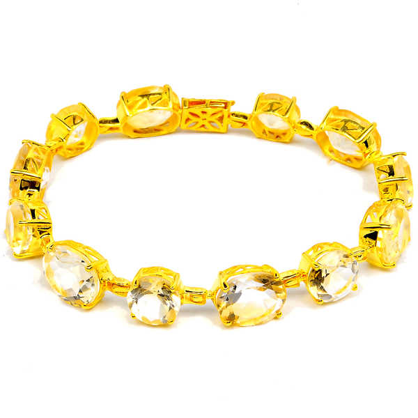 Orchid Jewelry 14k Yellow Gold Over Sterling Silver 32 2/5 Carat Citrine Bracelet