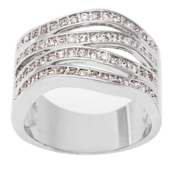 Simon Frank Beautiful Light 4-Row Stackable Anniversary CZ Band