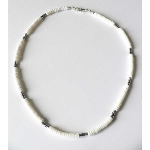 Taos' Men's 20-Inch Shell Necklace