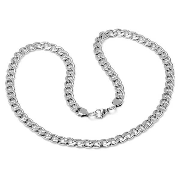 Stainless Steel Curb Chain Link Necklace