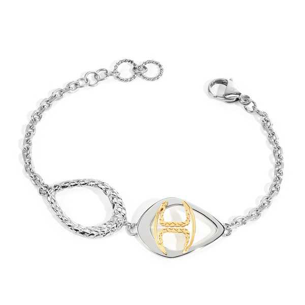 Just Cavalli Monogram Bracelet in Sterling Silver & Gold-Plated Stainless Steel - Two-tone