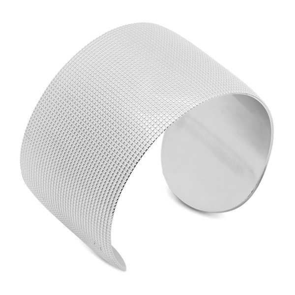 Stainless Steel Tiled Cuff Bracelet in 3 colors