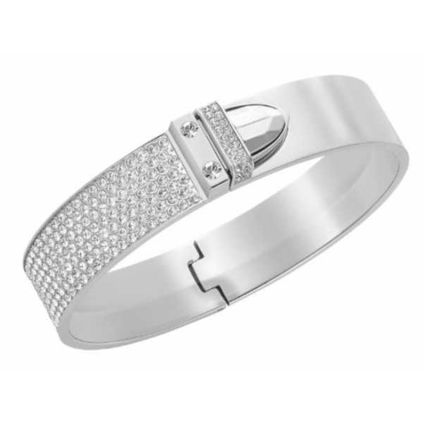 Women's Distinct Silver Stainless Steel Small Bangle