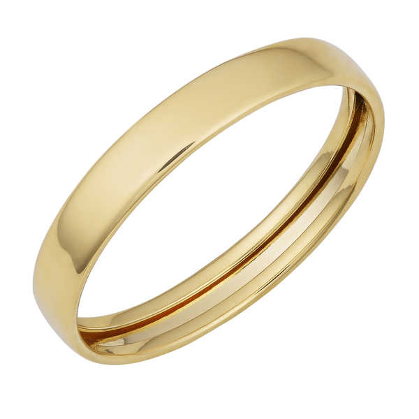 Fremada 14k Yellow Gold High Polish 3-mm Band Ring