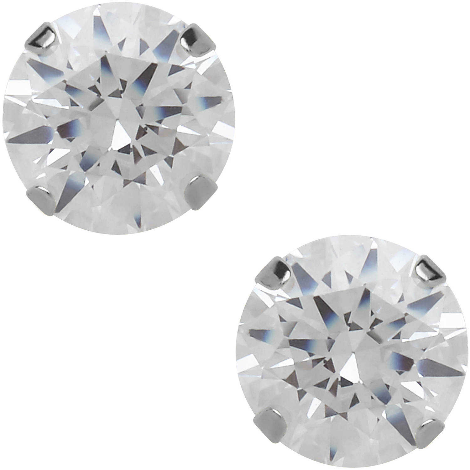 Believe By Brilliance 5mm CZ Round 10kt White Gold Stud Earrings