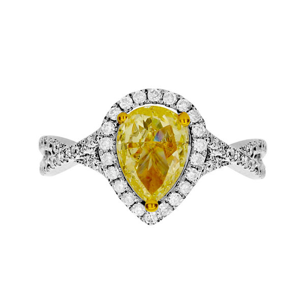 LIMITED QUANTITIES 1CT. T.W. White and Color-Enhanced Yellow Diamond Ring