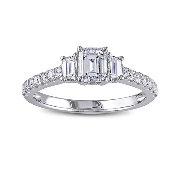 1CT. T.W. Diamond 14K White Gold Engagement Ring