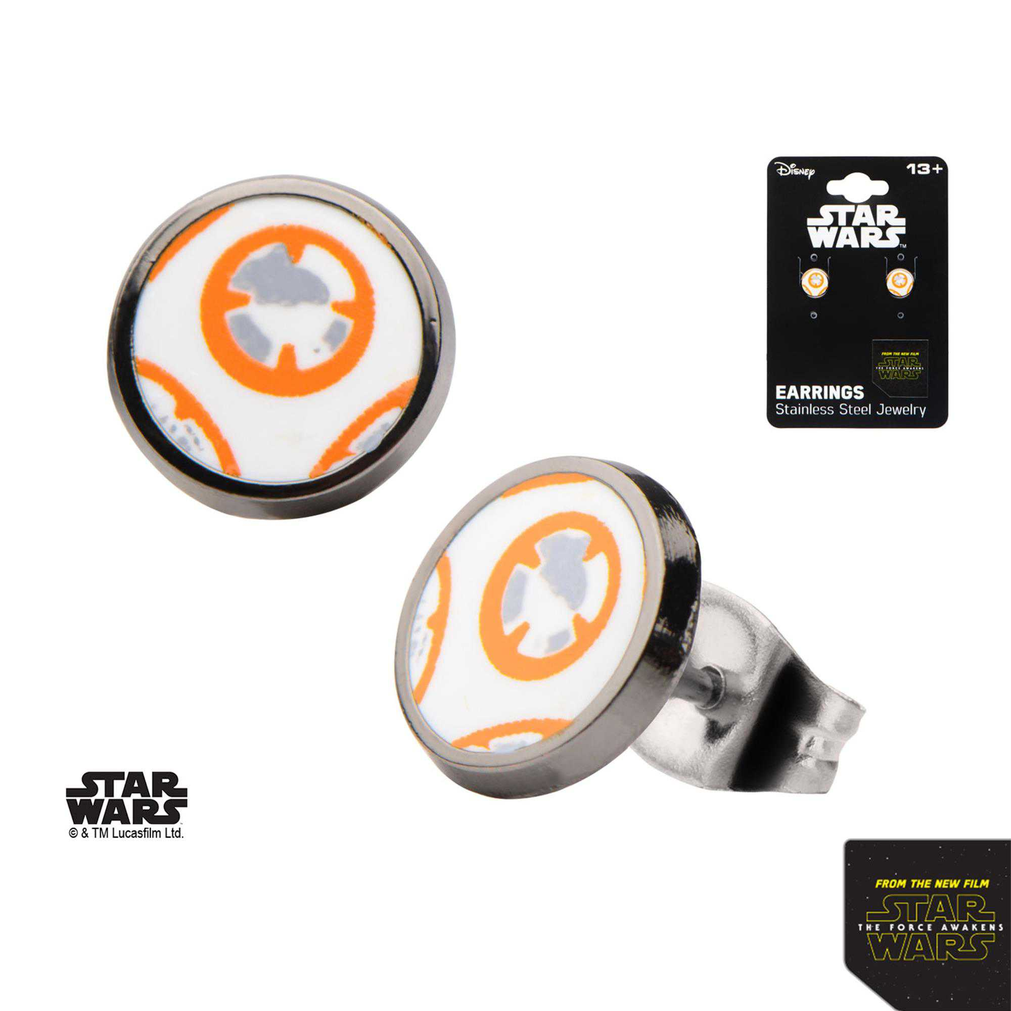 Star Wars Stainless Steel Episode 7 BB-8 Stud Earrings