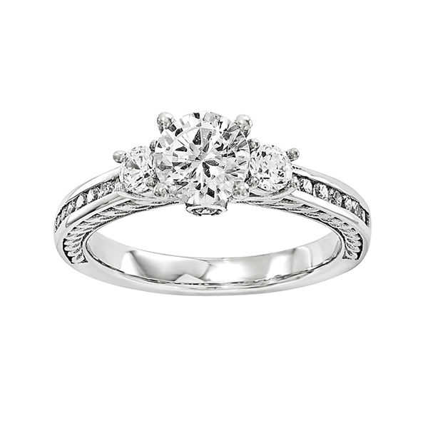 1 1/4 CT. T.W. Diamond 14K White Gold 3-Stone Engagement Ring