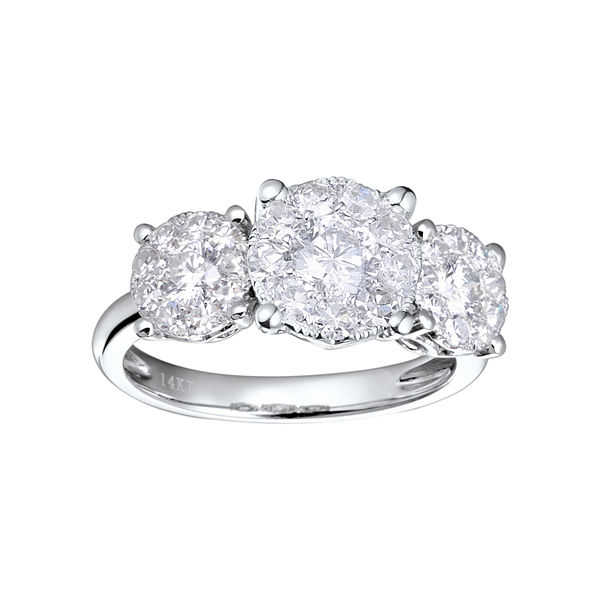 Brilliant DreamΓäó 3/4 CT. T.W. Diamond 3-Stone Style Engagement Ring