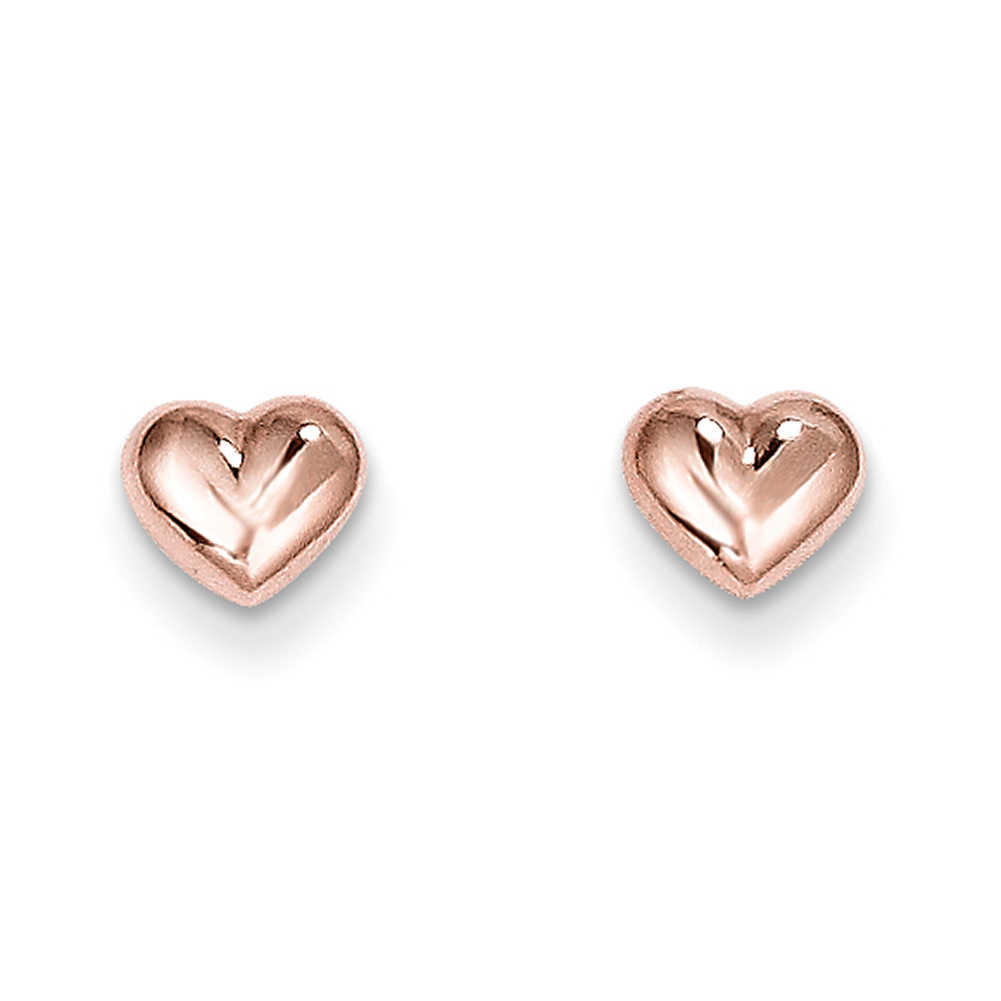14k Rose Gold Madi K Heart Post Earrings SE1731