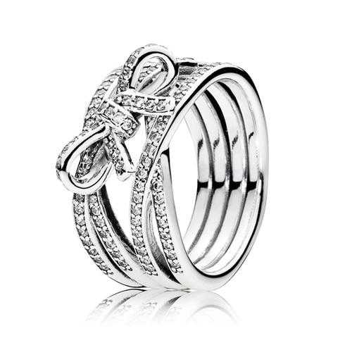 PANDORA Delicate Sentiments Ring with Clear Cubic Zirconia