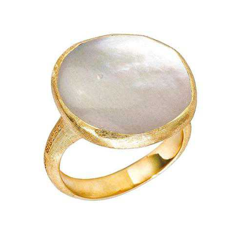 Marco Bicego Jaipur Mother of Pearl Cocktail Ring - Size 7