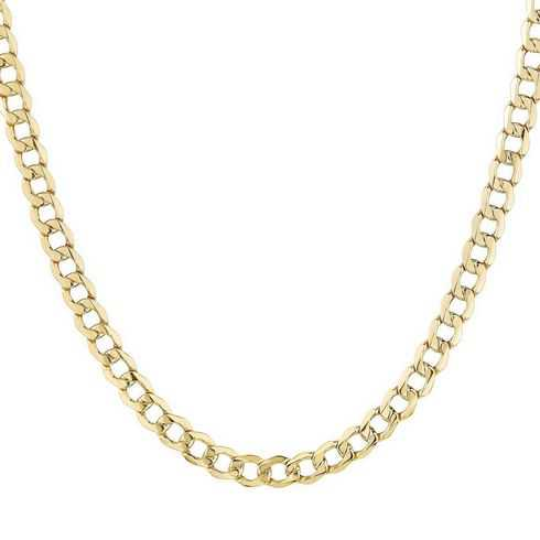 Yellow Gold Curb Chain 3.7mm