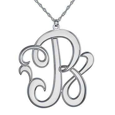Cutout Scripted Initial Pendant 40mm