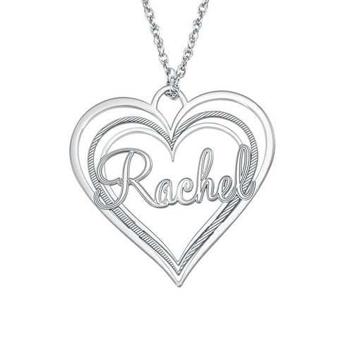 Alison and Ivy Triple Heart Name Pendant (30x32mm)