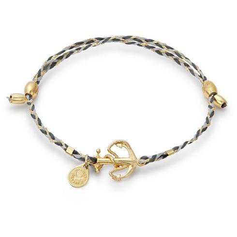 Alex and Ani Anchor Precious Threads Bracelet - Gold Plated