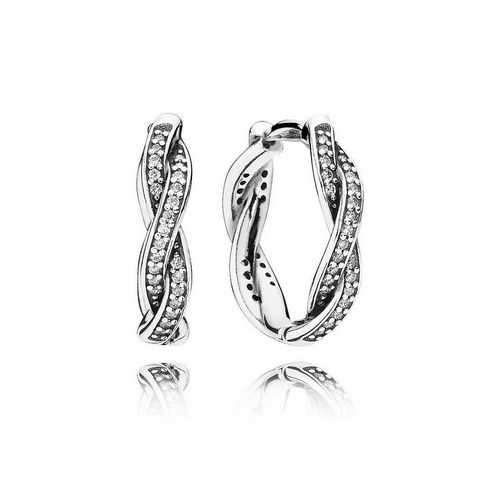 PANDORA Twist of Fate Hoop Earrings