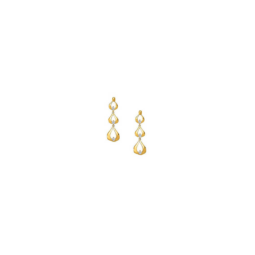 Fine Jewelry Vault Designer April Birthstone Cubic Zirconia Fancy Teardrop Earrings in 18K Yellow Gold Vermeil 0.50 CT TGW